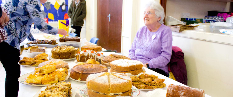 Cake stall at Lympne Village Hall Spring Fling Event